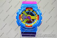 Яркие часы Casio G-Shock Ga-110 Azure-Rose