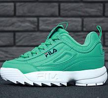 Женские кроссовки в стиле Fila Disruptor 2(II) Green/White