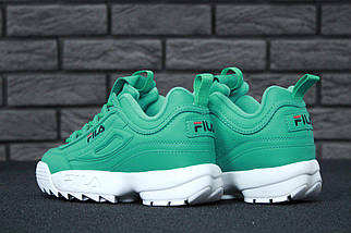 Женские кроссовки в стиле Fila Disruptor 2(II) Green/White, фото 2