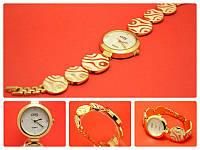 """Наручные часы на металлическом браслете """"Тинь белая волна"""", золото"""