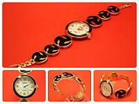 """Наручные часы на металлическом браслете """"Труа ветка"""", золото"""