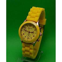 """Наручные часы на силиконовом ремешке """"Вальморель"""", желтые"""