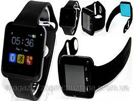 """""""Умные"""" наручные часы на силиконовом браслете """"Джидда"""", черные"""