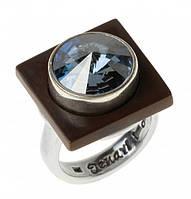 "Кольцо ""Моаби"" с кристаллами Swarovski, покрытое серебром (r7353046) 17"