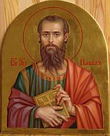 Сусальное золочение иконы Святого апостола Павла для хороса в храм.
