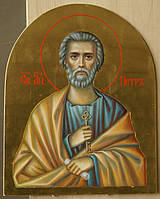 Сусальное золочение иконы Святого апостола Петра для хороса в храм.
