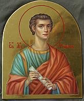 Сусальное золочение иконы Святого апостола Филиппа для хороса в храм.