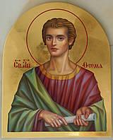Сусальное золочение иконы Святого апостола Фомы для хороса в храм.