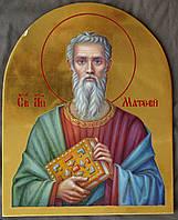 Сусальное золочение иконы Святого апостола Матфея для хороса в храм.