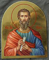 Сусальное золочение иконы Святого апостола Иуды для хороса в храм.