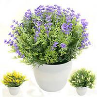 Искусственные цветы в горшке 18см R82862 (90шт)