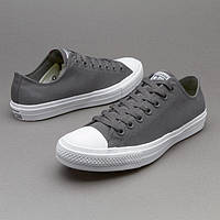 Кеды в стиле  Converse (Конверс) All Star II Low Chuck Tailor Mono. Cерые , фото 1