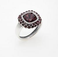 """Кольцо """"Рашель"""" с кристаллами Swarovski, покрытое серебром (a5743016) 17"""