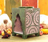 Аромалампа каменная, квадратная