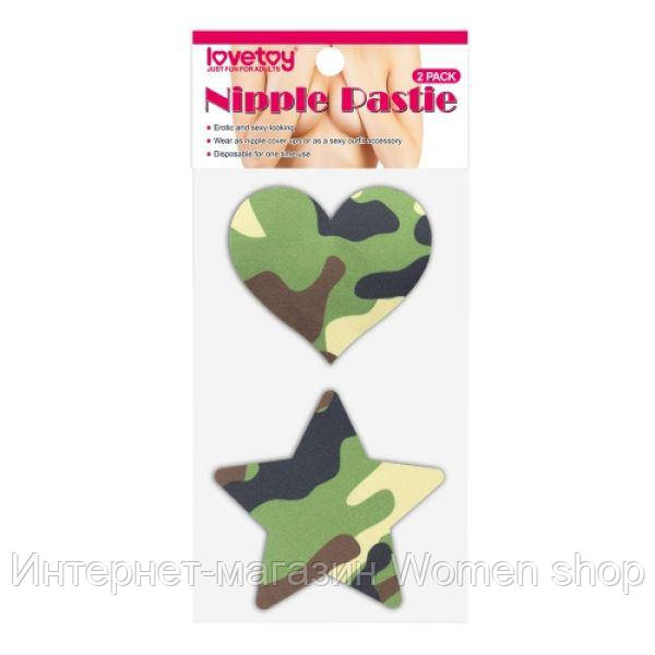 Camo Stars and Heart Nipple Pasties (2 Pack)