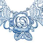 Набір під Срібло Кольє і Сережки Ажурні Квіти зі Стразами Метал, Довжина - 46 см + 8 див. Безкоштовна Доставка, фото 4