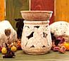 Аромалампа каменная, круглая #11