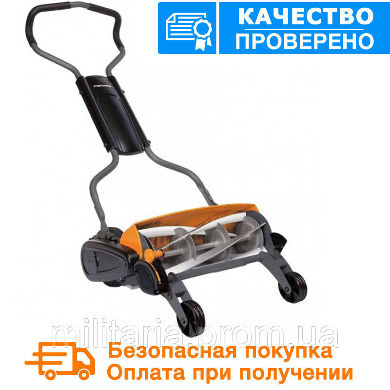 Газонокосилка Fiskars StaySharp™ Plus Reel Mower113880, фото 1