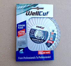 Алмазный диск 115 турбоволна WellCut Promo
