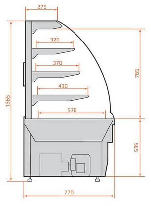Кондитерская витрина Es system LCC 02 Carina 1,0, фото 2
