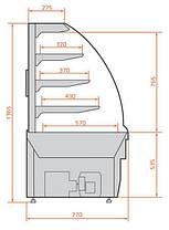 Кондитерская витрина Es system LCC 02 Carina 1,4, фото 3