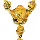 Кольє Троянди під Золото, Метал, Довжина 48 см + 5 см, Безкоштовна Доставка, фото 4