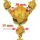 Кольє Троянди під Золото, Метал, Довжина 48 см + 5 см, Безкоштовна Доставка, фото 3