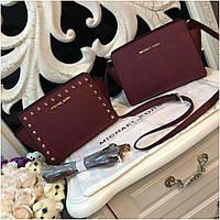 e1d7d5ac57fc Клатч, сумка Майкл Корс Selma mini натуральная кожа цвет марсал