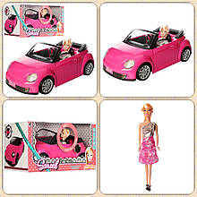 Автомобіль кабріолет для ляльки Барбі 6633 з лялькою (світло,звук)