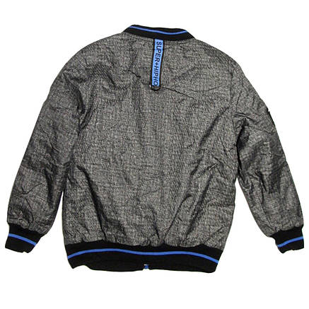 Куртка-бомбер демисезонная Grace для мальчика от 5 до 9 лет серая, фото 2