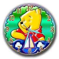 """Часы настенные круглые """"Винни и кораблик"""" отличный подарок ребёнку   30х30 см"""