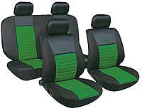 Автомобильные чехлы накидки 2 передних, 2 задних, оплетка на руль, 2 накладки на ремни