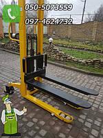 Штабелер гидравлический ручной высотой 2.10м., подъемник гидравлический подъём от 9 см до 1.6 метра