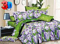 Двуспальное постельное белье полиСАТИН 3D (поликоттон) 8587