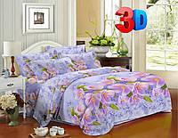 Полуторное постельное белье полиСАТИН 3D (поликоттон) 853979