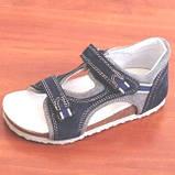 Ортопедичне взуття босоніжки дитячі для дівчинки Ortex коричневі, фото 4