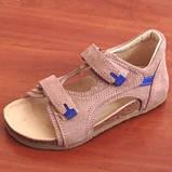 Ортопедичне взуття босоніжки дитячі для дівчинки Ortex коричневі, фото 6