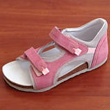 Ортопедичне взуття босоніжки дитячі для дівчинки Ortex коричневі, фото 3