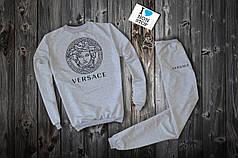 Cпортивный костюм Versace серый топ реплика