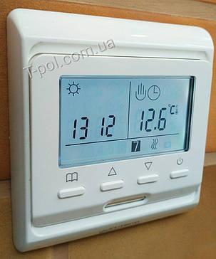 Терморегулятор программируемый e-51 для теплого пола и автономного отопления, фото 2