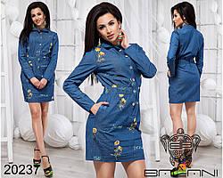 Джинсовое платье с карманами Производитель Фабрика Украина доставка Россия СНГ р.42-46