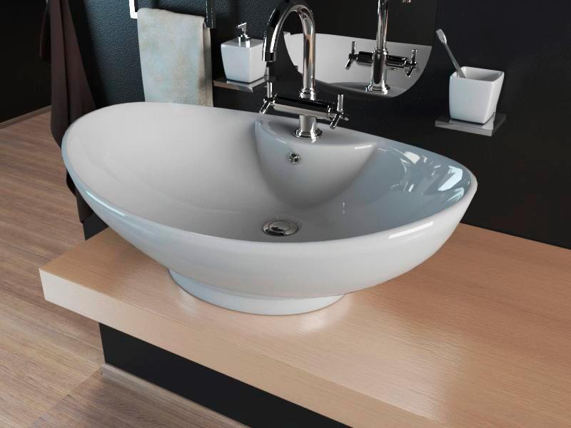 Умывальник (Раковина в ванную Kerabad КВW005) 65*44 Овальная форма