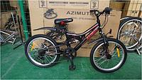 Спортивный подростковый велосипед  Azimut BlackMount 20 дюймов цвет черно-красный