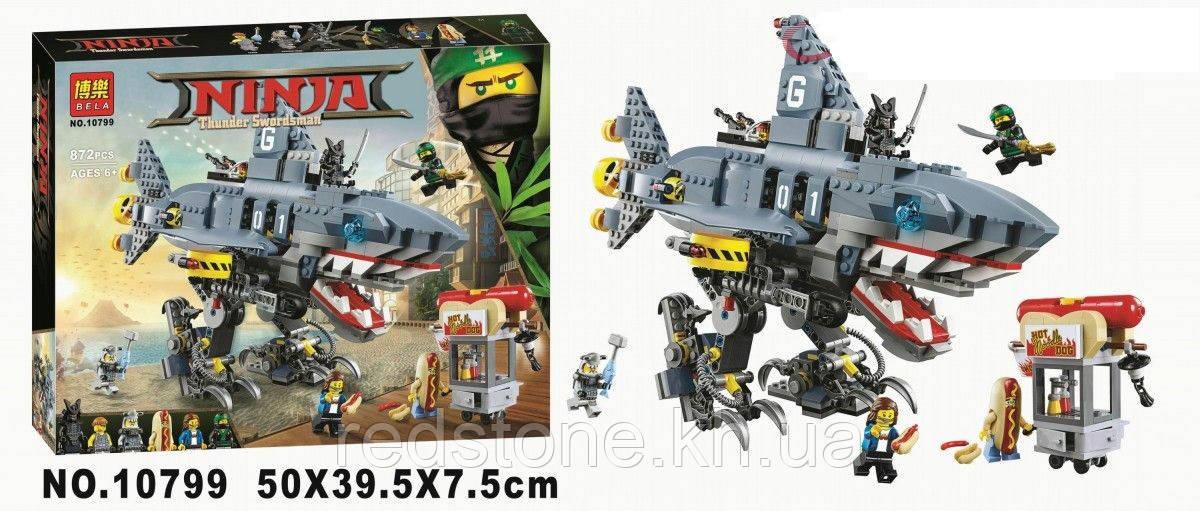 Конструктор Bela 10799 Ниндзяго Морской дьявол Гармадона (аналог Lego Ninjago Movie 70656) 872 дет.