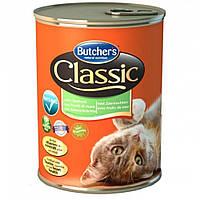 Корм Бутчерс Кет Классик Butcher`s Cat Classiс консерва для котов с морепродуктами 400 г