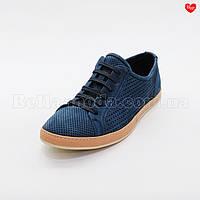 Мужские туфли синие с перфорацией Cosottinni