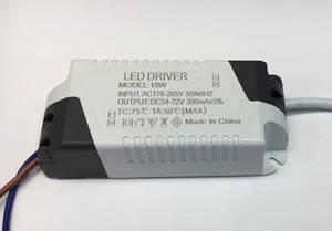 Драйвер для світлодіодів LED-(13-18)х1W IP20 Код. 58536