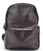 Мужской рюкзак кожзам 8445 коричневый Рюкзаки мужские, недорого, из эко кожи купить дешево Одесса