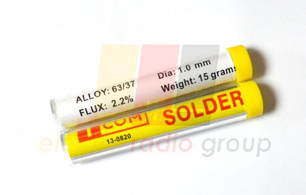 Припой оловянно-свинцовый ПОС-63, диам.-1мм, 15гр., в колбе
