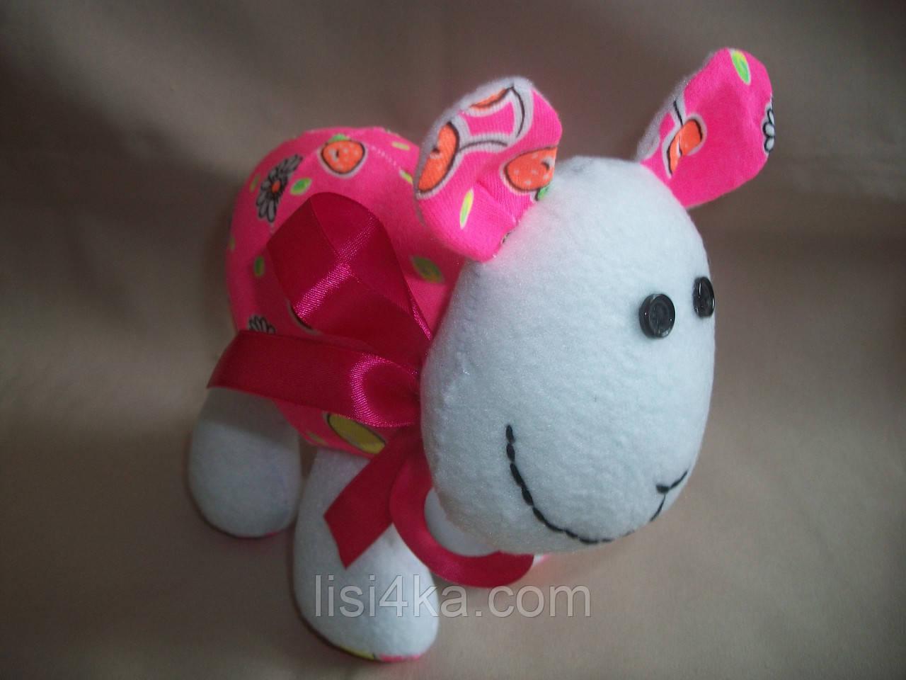 """Текстильная интерьерная игрушка """"Яркая овечка"""""""